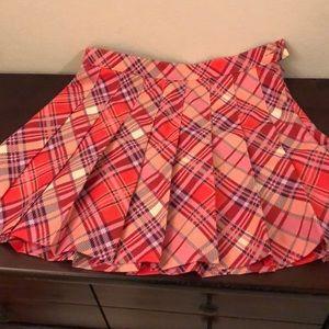American apparel plaid pleated skirt
